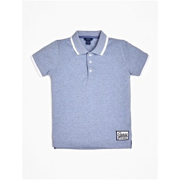 POLO APPLICATIONS EN CONTRASTE - BLEU Guess Kids