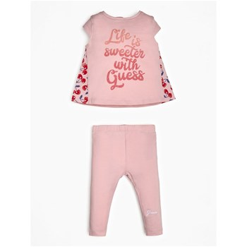 Guess Kids - Ensemble t-shirt et legging - rose
