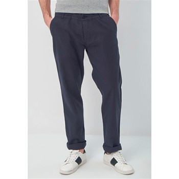 Best Mountain - Pantalon 55% lin - bleu marine