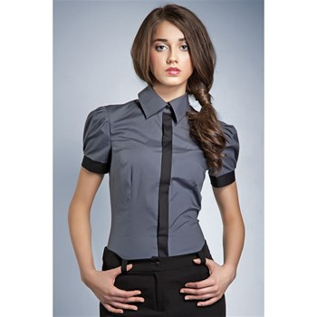 Nife - Chemise manches courtes - gris