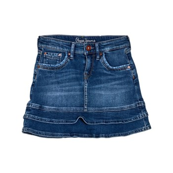 Pepe Jeans London - Alina ruffled - Gonna di jeans - blu jeans
