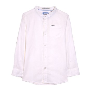 Pepe Jeans London - Malcolm - Chemise 55% lin - blanc