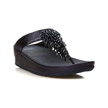 FitFlop - Rumba Toe Thong - Spartiates - bleu marine
