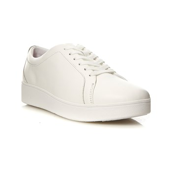 FitFlop - Rally - Baskets en cuir - blanc