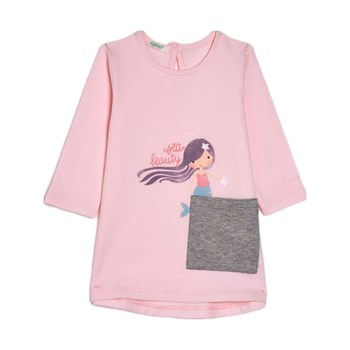 Benetton - Zerododoci - T-shirt manches longues - rose clair