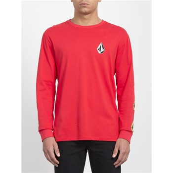Volcom - Deadly stone bcs - T-shirt manches longues - rouge