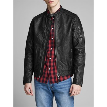 Jack & Jones - Richard - Veste en cuir d'agneau - noir