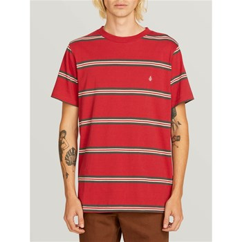 Volcom - Beauville crew - T-shirt manches courtes - rouge