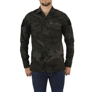Replay - Chemise manches longues - vert