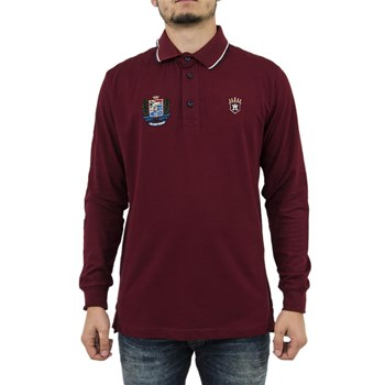 ARISTOW - Sc016w17 invictus - Polo manches longues - rouge