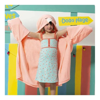 Dodo - Cape imitation fourrure - rose