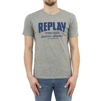 Replay - T-shirt manches courtes - gris
