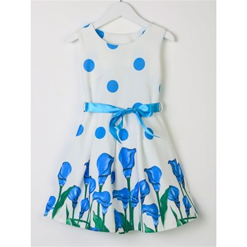 Happy Sweet - Vestido patinadora - azul