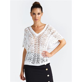 TOP MAILLE PERFORÉE - BLANC Marciano Los Angeles