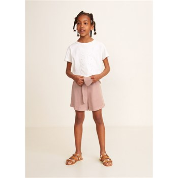 Mango Kids - Short nœud - rose