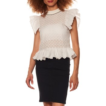 Sonia by Sonia Rykiel - Top en broderie anglaise - blanc