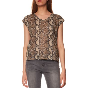 Only - T-shirt manches courtes - sable