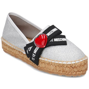 Love Moschino - Bow love - Espadrilles - argent