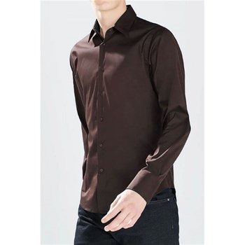 Kebello - Chemise manches longues - marron