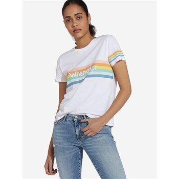 Wrangler - Rainbow - T-shirt manches courtes - blanc