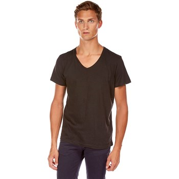 Best Mountain - T-shirt col V - noir