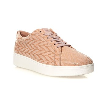 FitFlop - Rally - Baskets en cuir - rose