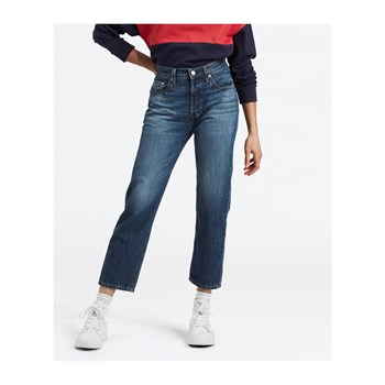 Levi's - 501 crop - Jean mom - bleu
