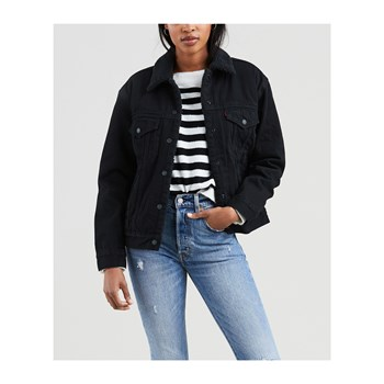 Levi's - Ex-Bf sherpa - Giacca in jeans - nero