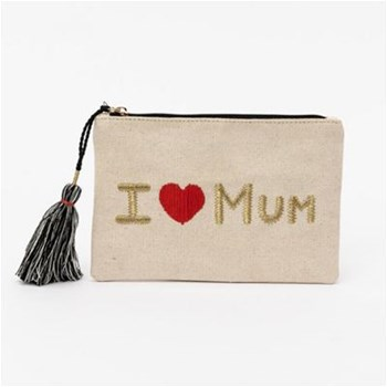 Lollipops - I love you - Sac pochette - beige