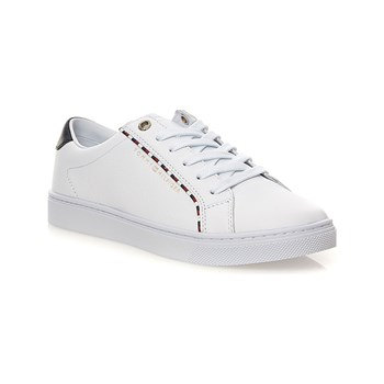 Tommy Hilfiger - Corporate - Zapatillas de cuero - blanco
