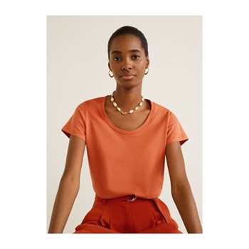 Mango - T-shirt manches courtes - orange