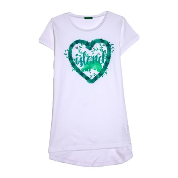 Benetton Kid - T-shirt manches courtes - blanc