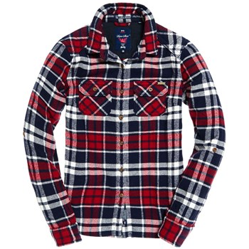 Superdry - Milled flannel shirt - Chemise manches longues - rouge