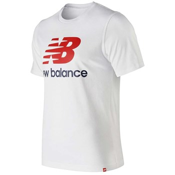 New Balance - Essentials stacked - T-shirt manches courtes - blanc
