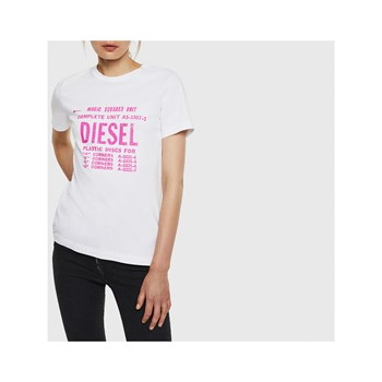Diesel - Sily - T-shirt manches courtes - blanc