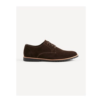 Celio - Lybrogue - Derby in pelle bimateriale - marrone scuro