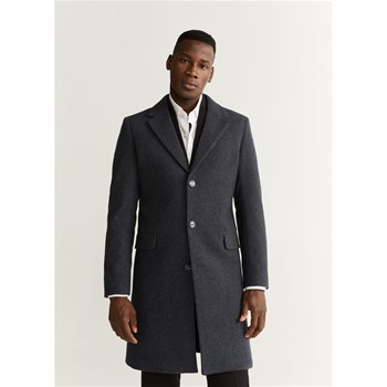 Mango Man - Tailored - Manteau 59 % laine - anthracite