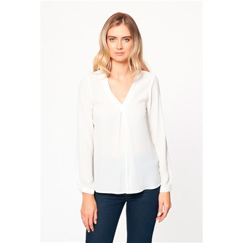 Best Mountain - Blouse col V - blanc