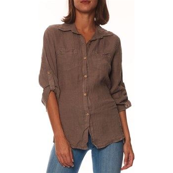 100% Lin - Athenes - Chemise en lin - taupe