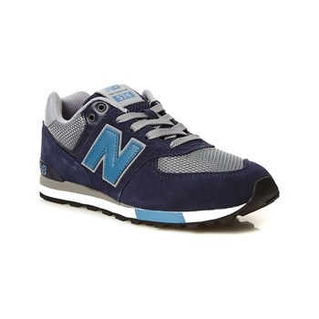 New Balance - Snackers in pelle bimateriale - blu marine