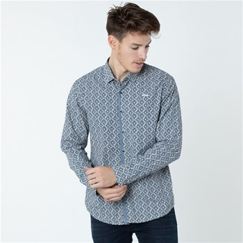 Lee Cooper - Dinko - Chemise manches longues - bleu