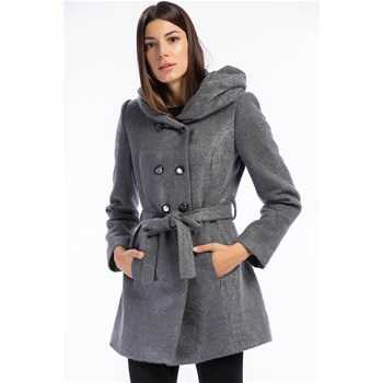 Dewberry - Manteau 70% laine - gris