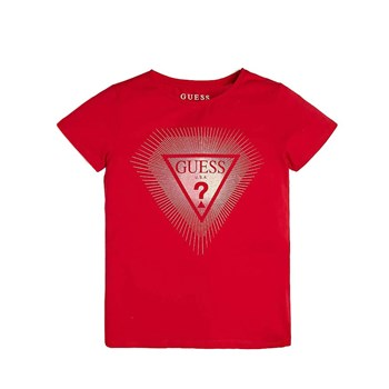 Guess - T-shirt manches courtes - rouge