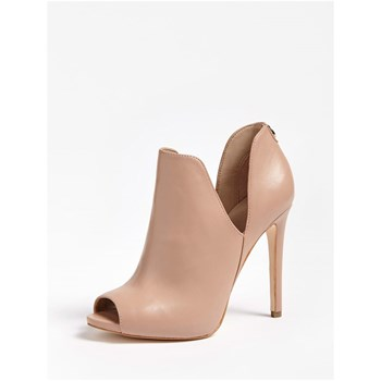 Guess - Aubry - Bottines en cuir - beige