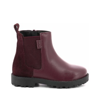 Kickers - Grizly - Bottines en cuir de vache - vin