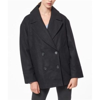 Best Mountain - Manteau laine - noir