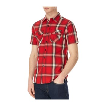 Replay - Chemise manches courtes - rouge