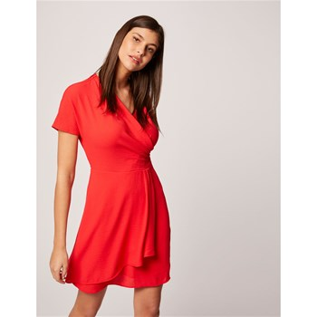 Morgan - Robe portefeuille - rouge