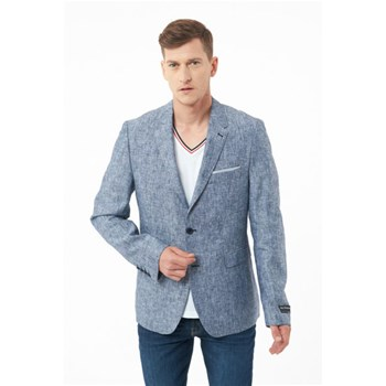 Best Mountain - Blazer en lin - bleu