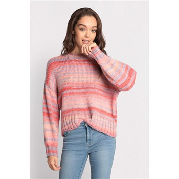 Cache Cache - Chauspace - Pull manches bouffantes - rose
